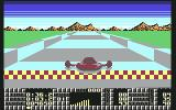 S.T.U.N. Runner Commodore 64 Finish line of track 1