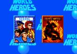 World Heroes Genesis Game mode selection: NORMAL (against CPU) or DEATH MATCH (same as NORMAL, but with trapped arenas).