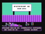 Pitstop II PC Booter Title screen (CGA Composite mode)