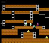 Lode Runner NES Trap enemies by making holes.