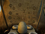 Myst V: End of Ages Windows Symbols on a wall, bowls below .. a clue to another puzzle will show itself here.
