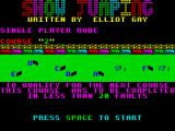 Show Jumping ZX Spectrum The second course doubles back on itself
