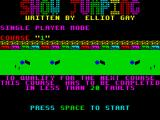 Show Jumping ZX Spectrum The course preview