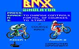 BMX Simulator Amstrad CPC Title screen / main menu