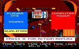 BMX Simulator Amstrad CPC Qualified for next race!