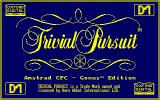 Trivial Pursuit Amstrad CPC Title screen