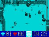 Street Cred Football ZX Spectrum Blue team is attacking