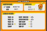 Pokémon Pinball: Ruby & Sapphire Game Boy Advance Options menu.