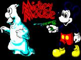 Mickey Mouse: The Computer Game ZX Spectrum Loading screen