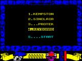 Mickey Mouse: The Computer Game ZX Spectrum Control selection