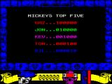 Mickey Mouse: The Computer Game ZX Spectrum High scores