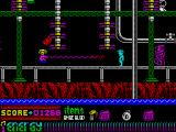 Dynamite Dan II ZX Spectrum That guy shooting the beam throws you off balance and backwards - sometimes into water