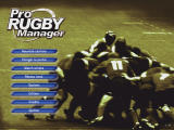 Pro Rugby Manager Windows Menu