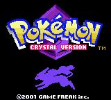 Pokémon Crystal Version Game Boy Color Title screen.