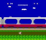 Challenger NES Try not to fall off the train.