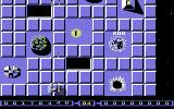 Bedlam Commodore 64 In this version, pickups appear under destroyed structures. The T stands for Teleport (to bonus level).