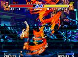 Real Bout Fatal Fury 2: The Newcomers Neo Geo Wind-stunning hits: Ryuji Yamazaki was caught by the furious waves of Joe's super move Screw Upper!