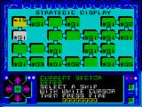 Astroclone ZX Spectrum The starting strategic map
