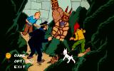 The Adventures of Tintin: Prisoners of the Sun DOS Main menu
