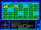 Astroclone ZX Spectrum The strategic map after a few rounds of combat