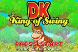 DK: King of Swing Game Boy Advance Title screen.