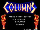 Columns SEGA Master System Title screen