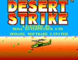 Desert Strike: Return to the Gulf SEGA Master System Title screen
