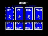 Quartet Amstrad CPC Character Selection