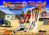 Real Bout Fatal Fury 2: The Newcomers Neo Geo When Rick Strowd does his super move Whirlwind Punch, Terry finds a easy and fast way to avoid it...