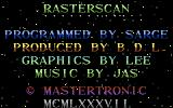 Rasterscan Commodore 64 Title screen 2