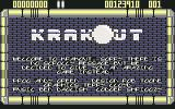Krakout Commodore 64 Title