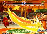 Real Bout Fatal Fury 2: The Newcomers Neo Geo Some flaming dragons makes a true hitting-party during Chonshu's hyper move Emperor Destiny Slash.