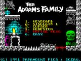The Addams Family ZX Spectrum Options