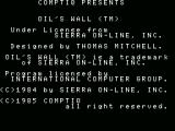 Oil's Well MSX Credits screen