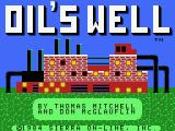 Oil's Well MSX Title screen