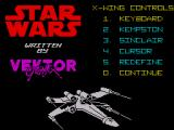 Star Wars ZX Spectrum Options Screen