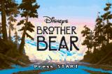 Disney's Brother Bear Game Boy Advance Title screen.