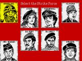 Strike Force: Cobra ZX Spectrum Choose the team