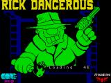 Rick Dangerous ZX Spectrum Loading Screen