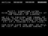 Rick Dangerous ZX Spectrum The second mission briefing
