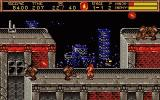 Ninja Gaiden II: The Dark Sword of Chaos DOS fighting on the rooftops