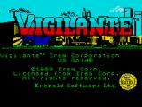 Vigilante ZX Spectrum Title Screen