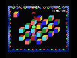 Q*bert MSX Gameplay on Level 1