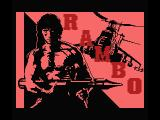 Rambo MSX Title screen