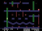 Junkman Junior TI-99/4A Disappearing and reappearing floors make this level more challenging than it looks