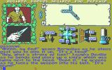 Legend of the Sword Atari ST The top-down map