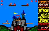 Bomb Jack Amstrad CPC Two UFOs approaching Jack