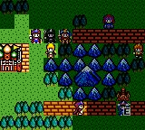 Crystal Warriors Game Gear The highlighted fields mark a character's moving range