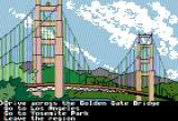 The Spy's Adventures in North America Apple II Visiting the Golden Gate bridge (Double Hi-Res mode)