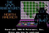 The Spy's Adventures in North America Apple II Title screen (Hi-Res mode)